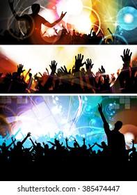 Crowd of people. Concert illustration