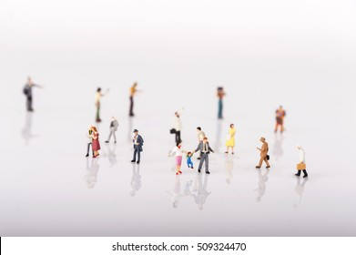 Crowd of people in miniature people