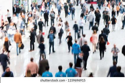 Crowd of people walking