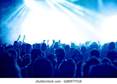 crowd at a rock concert