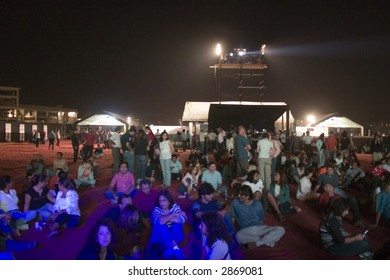 Crowd at a rock music gig