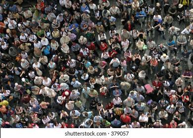 Crowd of tourists