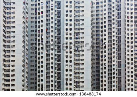 Crowded Apartment Block Hong Kong Stockfoto (Jetzt bearbeiten ...