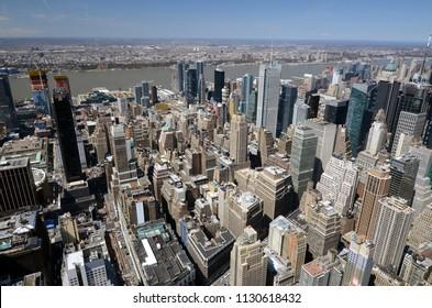 Crowded New York City Skyline