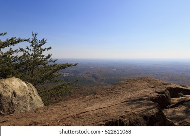 Crowders Mountain State Park in North Carolina during the fall, view from the Backside Trail
