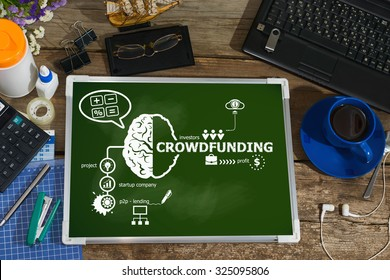 Crowdfunding design concepts for business, consulting, finance, management, career.