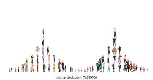 Crowds Illustration Lines
