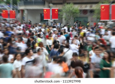 The crowds in shenzhen, China