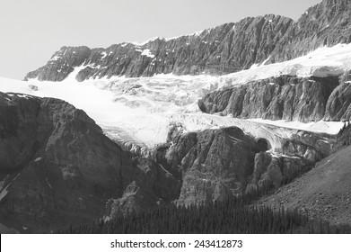 Crowfoot Glacier in Icefield parkway. Alberta. Canada. Horizontal