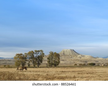 Crowheart Butte, famous mountain, Wyoming. The butte was named after a battle between Shoshone and the Crow. Chief Washakie won and cut out the heart of his opponent; thus, Crowheart Butte.