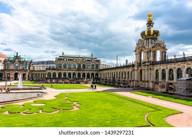Crown gate in Dresdner Zwinger, Dresden, Germany