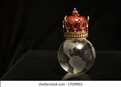 Crown of globe, king of the world