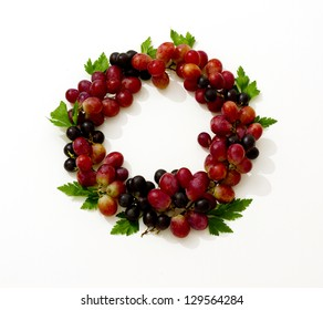 crown of grapes isolated