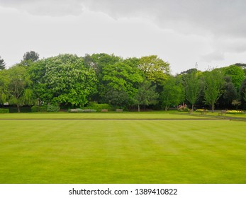 Crown Green Bowling in a Park