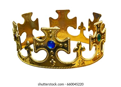 Crown isolated on white.
