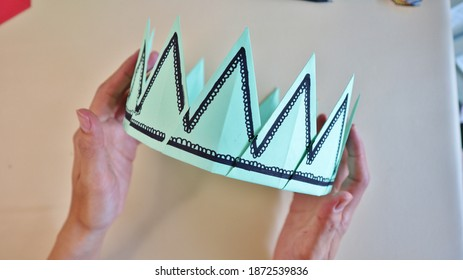 Crown King diy Origami Paper
