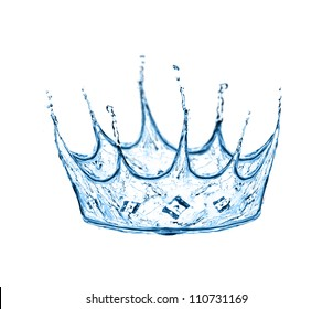 crown made from water splash