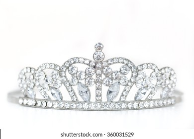 Crown Miss Contest Isolated on White Background