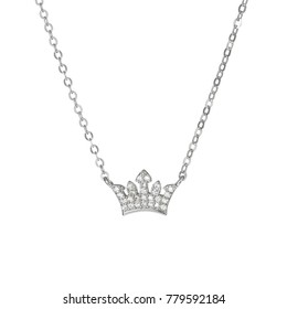 Crown necklace with brilliant jeweled