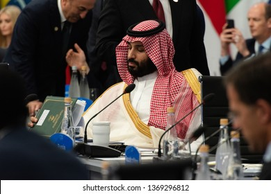 The Crown Prince of the Saudi Arabian throne, Mohammad bin Salmán, is seen during the G20 meeting, November 20, 2018. Federal Capital, Buenos Aires, Argentina.