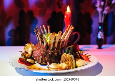Crown roast of lamb recipe with grilled vegetables