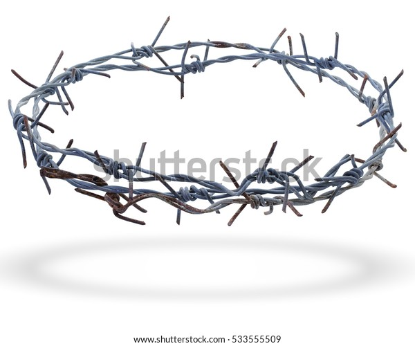 crown of thorns isolated on white background. This has clipping path.