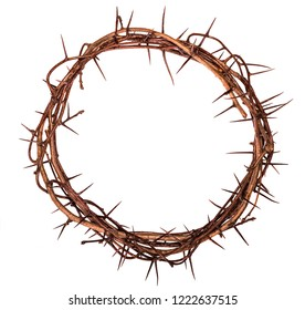 Crown of thorns Jesus Christ isolaten on white