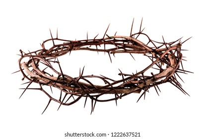Crown of thorns Jesus Christ isolaten on white - Shutterstock ID 1222637521