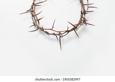 Crown of thorns Jesus Christ isolaten on white