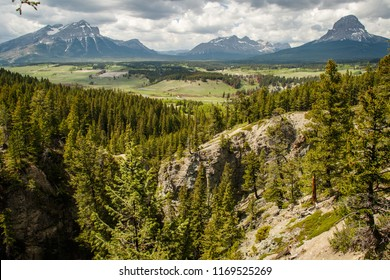 Crowsnest Pass mountains from Blairmore, Southern Canada