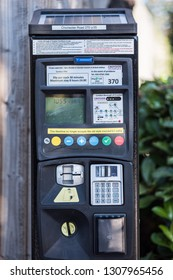 Croydon, Greater London - Nov 15 2018 : Croydon council's new parking meter
