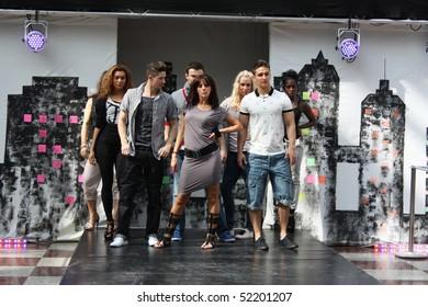CROYDON, LONDON - APRIL 24 : Models in Fashion Fusion Urban Fashion Show on April 24, 2010 in Whitgift Shopping Centre, Croydon, England.