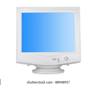 CRT monitor isolated