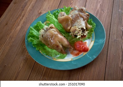 Crubeens - Irish food made of boiled pigs' feet