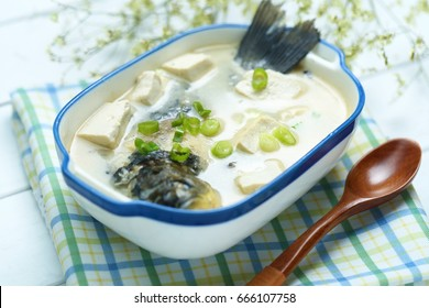 Crucian carp and Bean Curd Soup