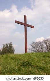 A crucifix erected for the easter weekend