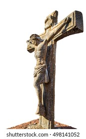 the crucifixion of Jesus in stone