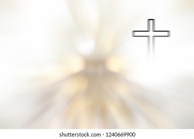 Crucifixion on a white background, religion can be used as a background.