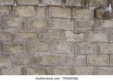 Crude Concrete Brick Wall