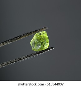 Crude gem quality peridot from Lanzarote, Canary Islands