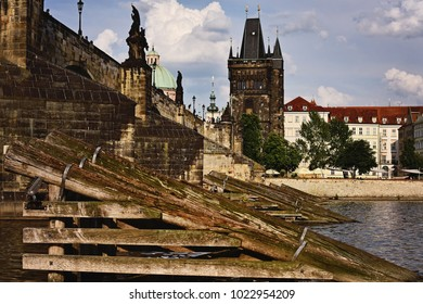 Cruise along the Vltava River, under Charles Bridge