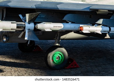 Cruise missile. A winged homing missile suspended under the wing of a fighter. Armament of the aircraft. Aircraft missile launcher. Guided self-propelled flying weapon.
