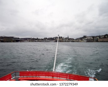Cruise on Lake Lucerne - Townscape of Lucerne in atutumn, Central Switzerland, Switzerland