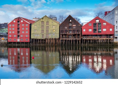 A cruise ride along the Norway coast with a stop in Trondheim during winter time