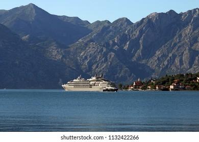 Cruise ship Bay of Kotor Montenegro