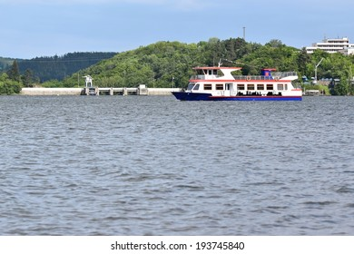 cruise ship at the Brno dam