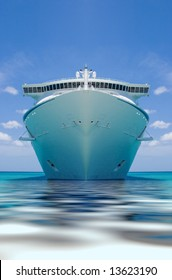 cruise ship in a caribbean ocean
