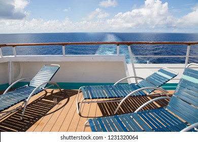 Cruise ship in the Caribbean sea