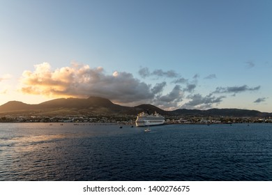 Cruise ship at the dock on St. Kitts Island in the Caribbean