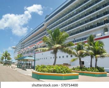 Cruise Ship Dock in Port of Nassau, Bahamas